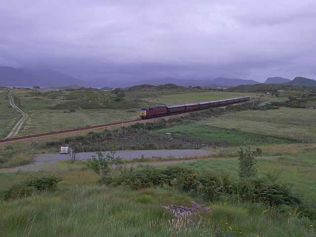 57 601 passes Drumbuie with the Royal Scotsman