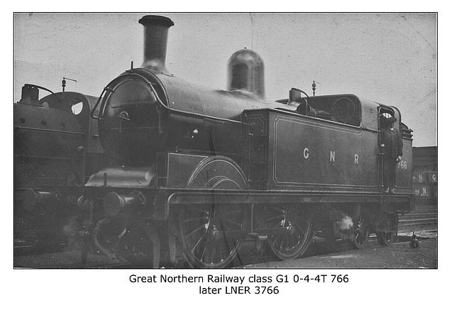 GNR cl G1 0 4 4T 766 LNER 3766