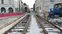 BESANCON: Travaux du tramway: Place de la Révolution 2.