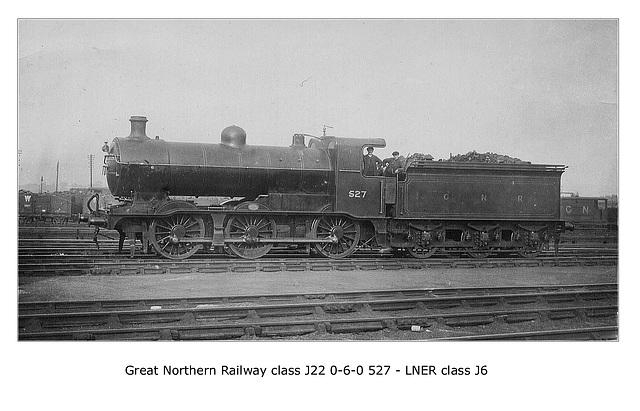 GNR cl J22 0 6 0 527 LNER cl J6 LPC