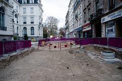 BESANCON: Avenue Carnot: Construction de la ligne du tram.
