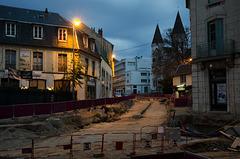 BESANCON: 2012.11.25 Travaux du Tram avenue Carnot.