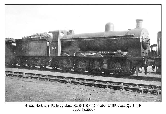GNR cl K1 0 8 0 449 LNER cl Q13449