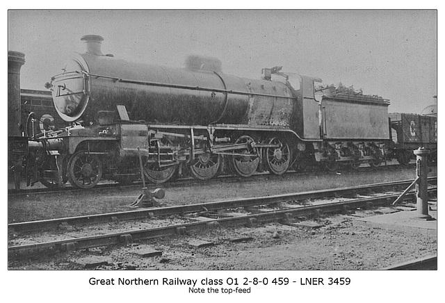 GNR cl O1 2 8 0 459 LNER cl 01 3459 circa 1920
