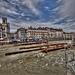 BESANCON: Travaux de Tram: Reconstruction du pont Battant.