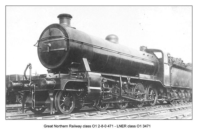 GNR cl O1 2 8 0 471 LNER cl 01 3471 circa 1920