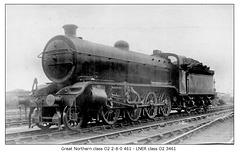 GNR cl O2 2 8 0 461 LNER cl O2 3461 circa 1920