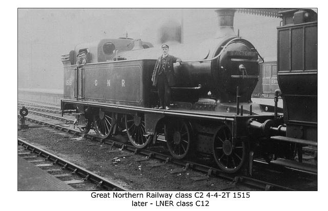 GNR class C2 4-4-2T no.1515 - LNER class C12