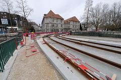 BESANCON: Travaux du tram: Le pont St Pierre 03.