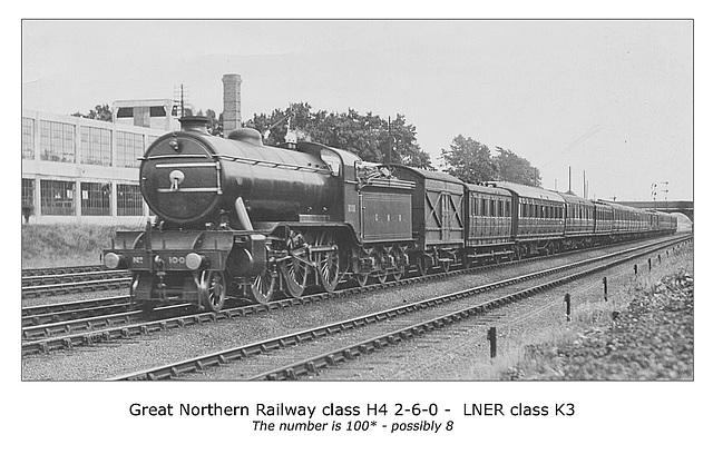 GNR class H4  2-6-0 - LNER class K3 no. possibly 1008 - LPC