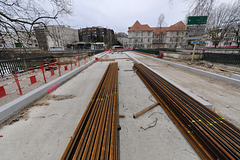 BESANCON: Travaux du tram: Le pont St Pierre 02.