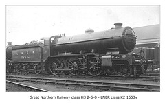 GNR H3 260 LNER K2 1653N c1923