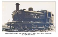 GNR J13 0-6-0ST 1273 LNER J52 4273 Bradford 14 7 1923