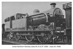 GNR N1 0 6 2T 1580 LNER N1 4580