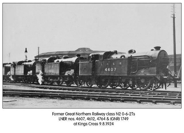GNR N2s 4607 4612 4764 & 1749 Kings X 9 8 1924