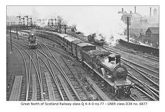GNSR class Q  4-4-0 no.77 - LNER class D38 no.6977  - post-grouping