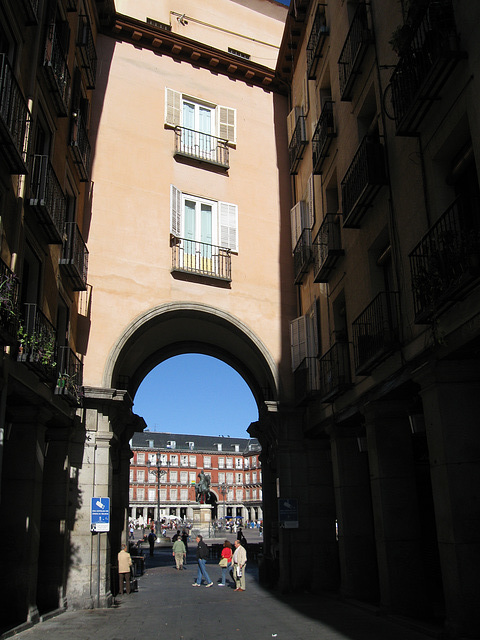 Archway into Plaza Mayor