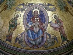 """MONACO: """" Marie la Glorieuse"""" Mosaïc de la Cathédrale."""