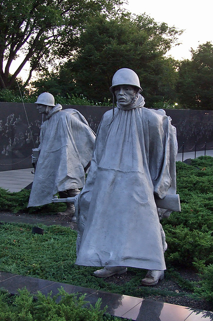 Detail of the Korean War Veterans Memorial, September 2009