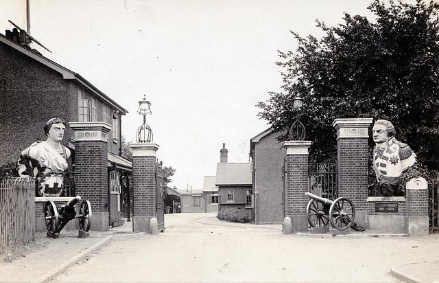 Entrance to Shotley Barracks, Suffolk