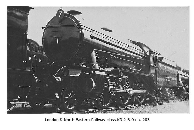 LNER cl K3 2 6 0  203