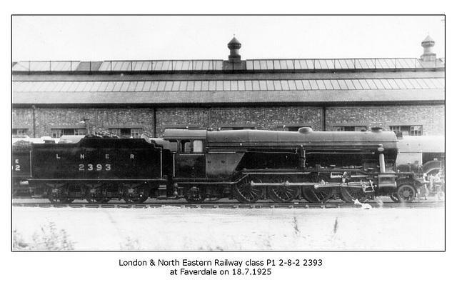 LNER cl P1 2 8 2 2393 Faverdale 18 7 1924 WHW