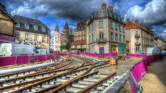BESANCON: Travaux du tram: Avenue Carnot. 2013.03.11-01.