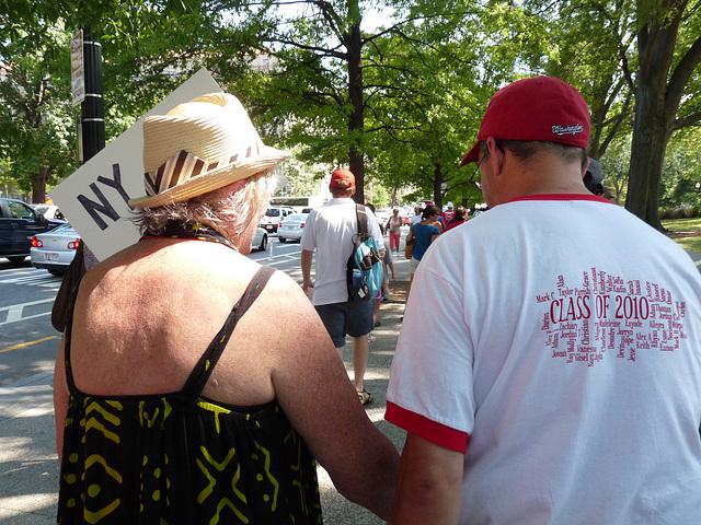 marching behind Deborah Meier