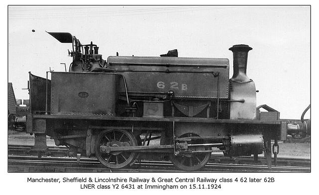 MS&LR GCR cl4 62 62B LNER cl Y2 Immingham 15 11 1924 WHW