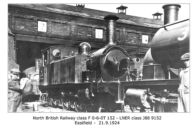 NBR cl F 060T 152 LNER cl J88 Eastfield 21 9 1924