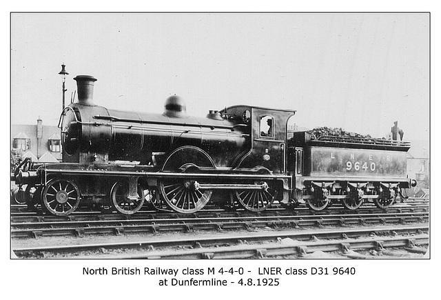 NBR cl M 4 4 0 LNER cl D31 Dunfermline 4 8 1925