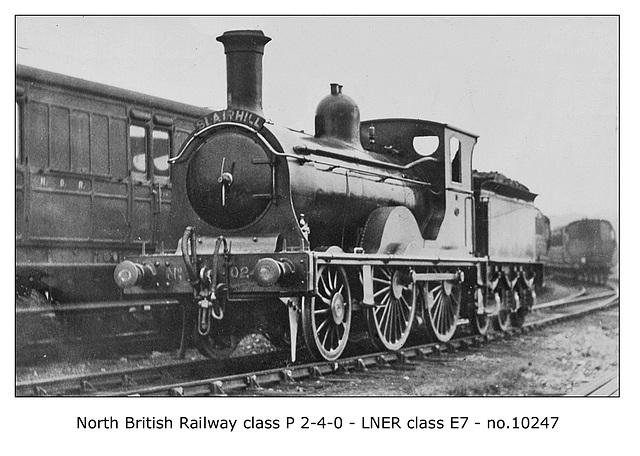 NBR cl P 2 4 0 LNER cl E7 10247 c1923