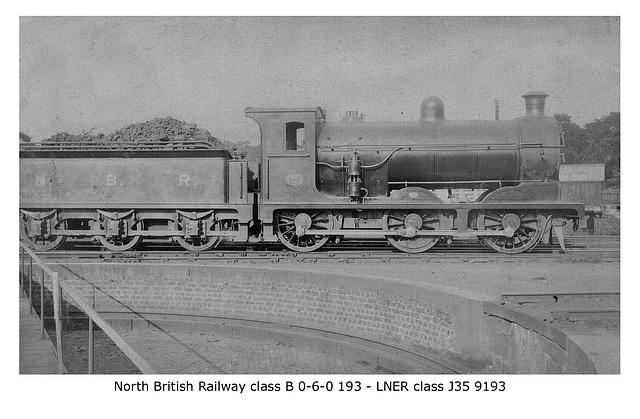 NBR class B 060 193 LNER class J35 9193 LPC