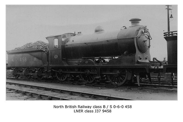 NBR class BorS 060 458 LNER cl J37 c1922
