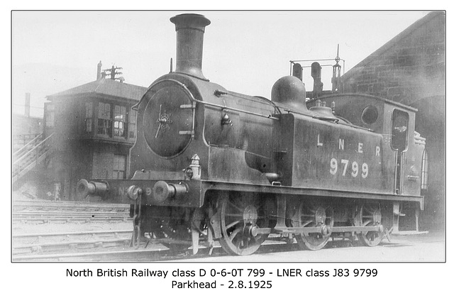 NBR clD 060T 799 LNER cl J83 9799 Parkhead  2 8 1925 WHW