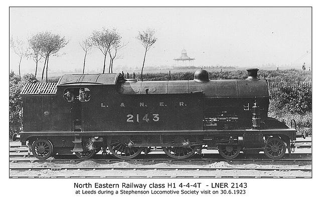 NER cl H1 4 4 4T Leeds 30 6 1923 WHW