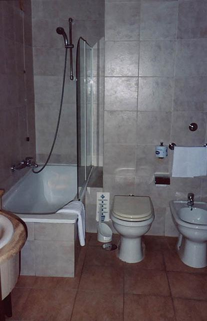 Hotel Bathroom in Naples, Nov. 2003