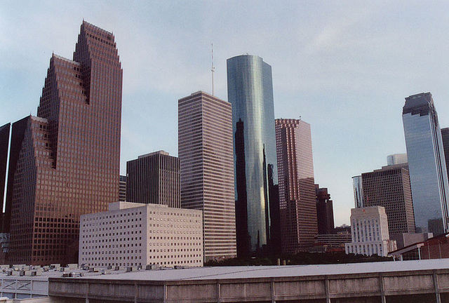 View of Downtown Houston, July 2005