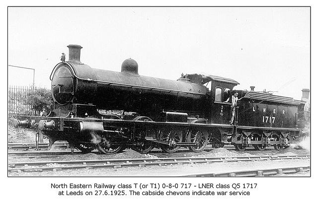 NER cl TorT1 0 8 0 717 LNER cl Q5 1717 Leeds 27 6 1925