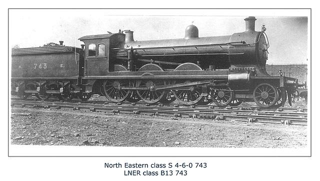 NER class S 460 743 LNER B13 743 no date or loc