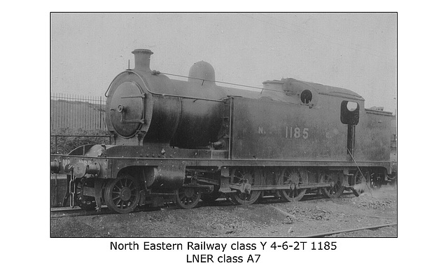 NER class Y 4 6 2T LNER cl A7 no date or loc