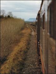 train approaching Sligo
