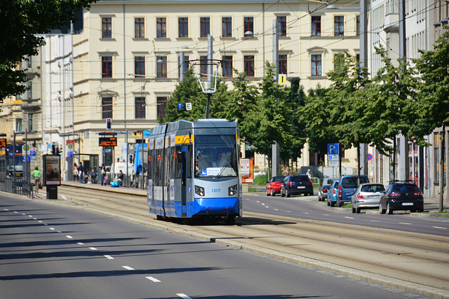 Leipzig 2013 – Tram 1317 on learner's duty