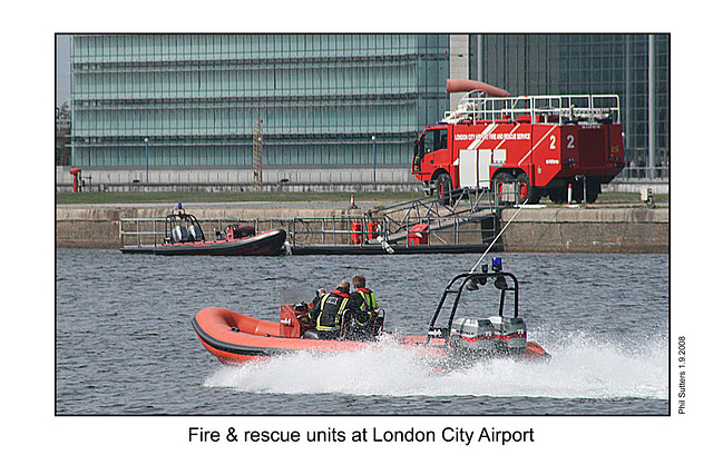 Fire & rescue units at London City Airport 1 9 08
