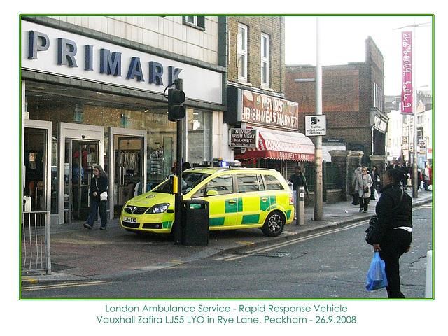 LAS RRV LJ55 LYO Peckham 26 9 2008