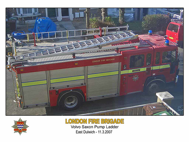 LFB Volvo Saxon East Dulwich 11 3 2007