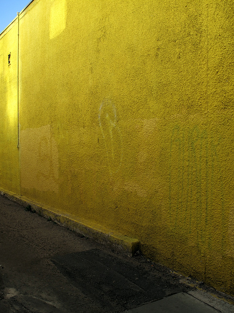 A sharp yellow.