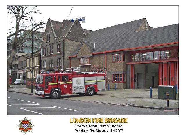LFB Volvo Saxon Peckham Fire Station 11 1 2007 4Fl