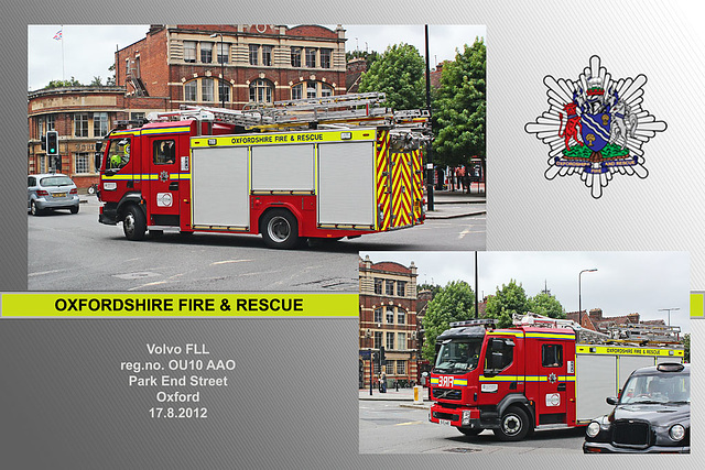 Oxfordshire FRS OU10 AAO Oxford 17 8 2012