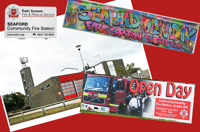 Seaford Community Fire Station Open Day advert 15 6 2012